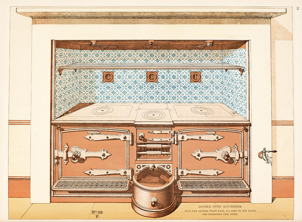 Illustration of a double oven kitchen