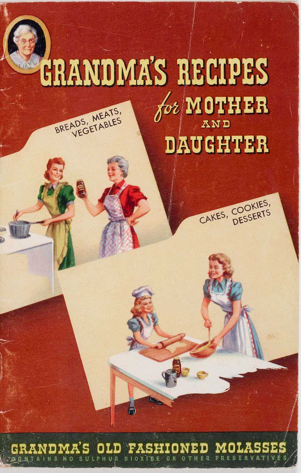 "Book cover for ""Grandma's Recipes for Mother and Daughter"""