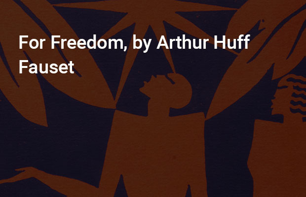 For Freedom, by Arthur Huff Fauset