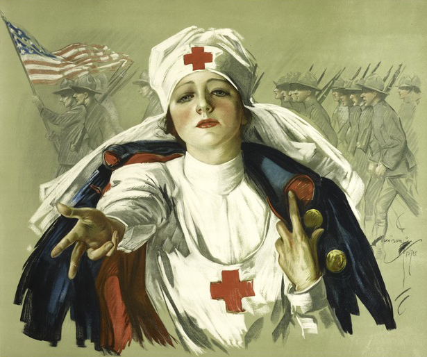 Poster of a Red Cross nurse